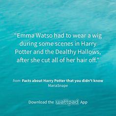 """I'm reading """"Facts about Harry Potter that you didn't know"""" on #Wattpad. http://w.tt/1x3KHbR #shortstory #quote"""
