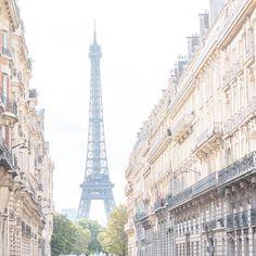 paris, france, morning, eiffel tower, georgiannalane, travel