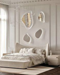 Modern Classic Bedroom, Modern Luxury Bedroom, Master Bedroom Interior, Bedroom Bed Design, Room Ideas Bedroom, Home Room Design, Dream Home Design, Luxurious Bedrooms, Home Interior Design