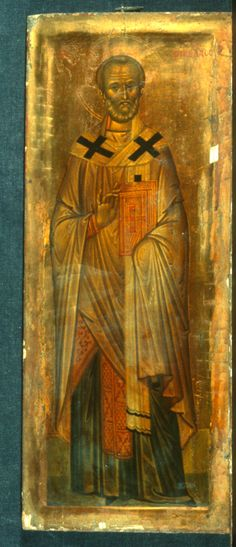 St Nicholas the Wonderworker and Archbishop of Myra in Lycia, Sinai, century (or the end of Religious Images, Religious Icons, Religious Art, Byzantine Icons, Byzantine Art, Early Christian, Christian Art, Greek Icons, Saints And Sinners