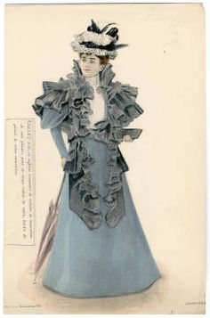 1896, Plate 047. Fashion plates, 1700-1955. The Costume Institute Fashion Plates. The Metropolitan Museum of Art, New York. Gift of Woodman Thompson (b17520939) | Parisian women's fashion from 1896. #fashion