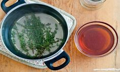 An easy homemade cold remedy - honey thyme cough syrup recipe. Step-by-step instructions and photos included. Homemade Cold Remedies, Homemade Cough Syrup, Cold And Cough Remedies, Flu Remedies, Herbal Remedies, Home Remedies, Health Benefits Of Thyme, Immune System Boosters Natural, Thyme Essential Oil