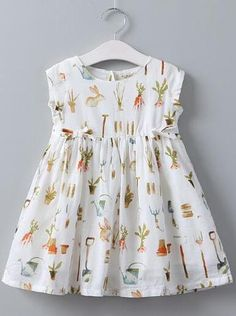 Bear Leader Girls Dress Summer Children Clothing Little Bunny Print Princes Dress Casual Style White Color Kids Clothes Frocks For Girls, Kids Frocks, Girls Party Dress, Little Girl Dresses, Girls Dresses, Party Dresses, Girls Frock Design, Baby Dress Design, Baby Girl Dress Patterns