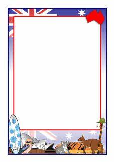 Australia-themed A4 page borders (SB5252) - SparkleBox