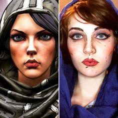 Did an Athena makeup test. Still shaky on the cel-shading. Any tips Borderlands cosplayers? #cosplay #athena #borderlands #videogames #borderlandsthepresequel #athenathegladiator #cosplaymakeup #makeuptest #cosplan