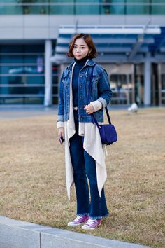 Jacket | Forever21 Cardigan | Cos Pants | Zara Shoes | Converse On the street… Kim Seungyeon Busan