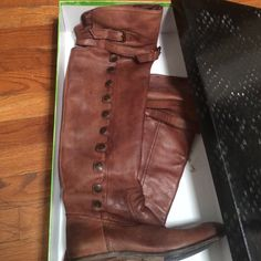 Sam Edelman over the knee boot Whiskey leather. Retail $260. I wore these with special care. No bruises at all. Top of shaft has adjustable straps. Price is firm. Can ship with or without box. Sam Edelman Shoes Over the Knee Boots