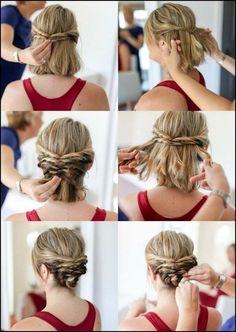 Christmas Gift Ideas - 7 Beautiful and Cheap Christmas Gift Wrapping Ideas - Write Ih Braided Hairstyles Updo, Braids For Short Hair, Cute Hairstyles For Short Hair, Hairstyles For Round Faces, Diy Hairstyles, Wedding Hairstyles, Short Hair Styles, Haircuts, Easy Hairstyle