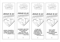 Jesus is our Superhero bookmarks (Dapto Messy Church)