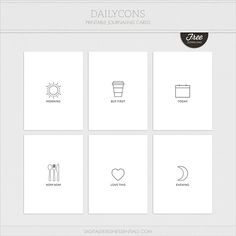 Free Dailycons Journal Cards   Digital Design Essentials