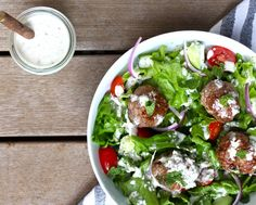 Whole30 Greek Lamb Meatballs with Tzatziki Sauce – The Defined Dish