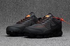 509b3bb259accd Men s Nike Air Vapormax Flyknit 2018 Anthracite Grey Orange Super Deals
