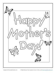Happy MotherS Day Coloring Pages For Kids Printable Free