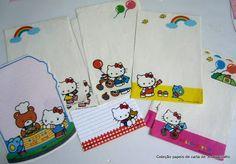 Coleção papéis de carta e Pelucia Hello Kitty
