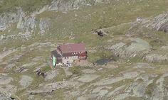 Der Hubschrauber und die Elberfelder Hütte / Bild: KK
