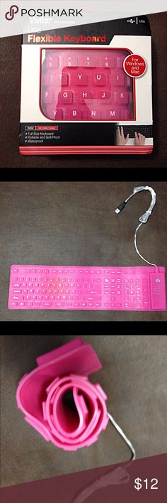 ***Vivitar flexible keyboard *** This product is absolutely awesome for gadget geeks like myself. This keyboard is fun to use and extremely durable. This product is.... *water proof *liquid proof *cleanable *dirt proof *dust proof  *can be rolled up (see In picture). This product has done everything I asked for and will do the same for you! Works with Windows & Mac and works with the USB! Amazing deal! Vivitar Other