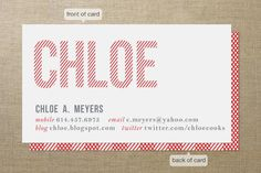 Double Take @ Minted.  Like that they include blog and twitter.