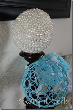 Keeping it Simple: DIY Decor ball with beads