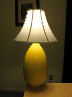 Home Depot Lamp Shades Table Top Luminary I Designed And Assembled Myselfvase Was From