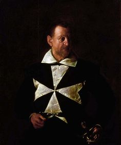 Portrait Of Alof De Wignacourt - Florence, Oil by Caravaggio (Michelangelo Merisi) Italy) The Portrait of Fra Antonio Martelli (c. is a painting by the Italian master Michelangelo Merisi da Caravaggio, in the Palazzo Pitti, Florence. Baroque Painting, Baroque Art, Italian Painters, Italian Artist, Chiaroscuro, Oil Canvas, Canvas Art, Arte Naturalista, Art History