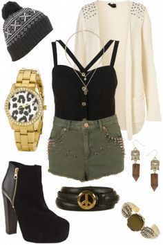 Perfect casual outfit - loving the leopard watch! #style #fashion #outfit