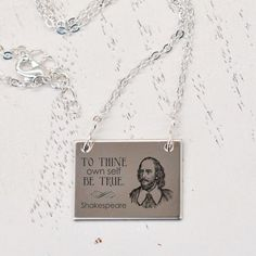 To thine ownself be true Shakespeare  necklace by BookFiend, $15.95