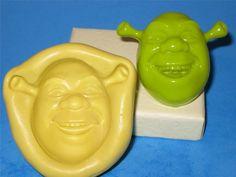 Shrek Silicone Push 2D Mold Mould Food Safe A435 Cake Topper Decoration #LobsterTailMolds