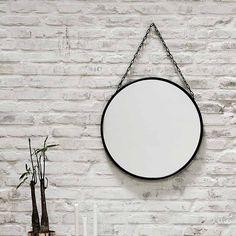 Spiegel Downtown rund black, Durchmesser 55cm, von Nordal, EUR 56,00