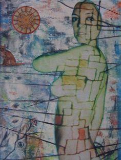 E. Besozzi pitt. 1976 Ricordo di un sogno tecnica mista su carta cm. 23,5x18 arc. 1012