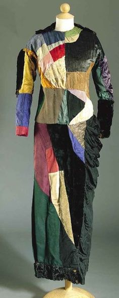 Sonia delaunay  - This is one of her first designs, a dress from 1913.