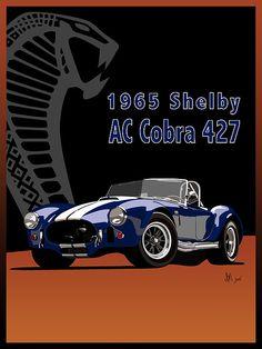 1965 Shelby Ac Cobra 427 Print By Ian Mutton