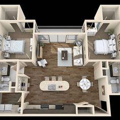 ideas house goals modern floor plans for 2019 Sims House Plans, House Layout Plans, Small House Plans, House Floor Plans, Studio Apartment Floor Plans, Bedroom Floor Plans, Apartment Plans, The Plan, How To Plan