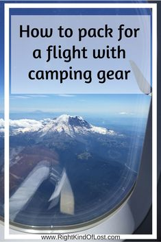 Flying with camping gear dos and don'ts Flying with camping gear. How to pack for a flight and what to take when you chose to fly to your hiking, backpacking, and/or camping destinations. Camping Bedarf, Camping Storage, Camping Packing, Camping Organization, Camping Spots, Camping Checklist, Beach Camping, Camping Essentials, Camping With Kids