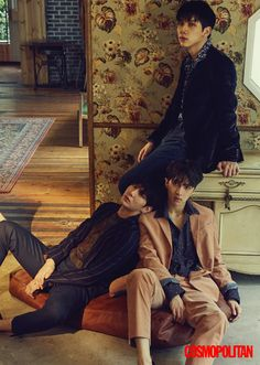Hyuk & Leo & Ken (VIXX) - Cosmopolitan Magazine October Issue '16