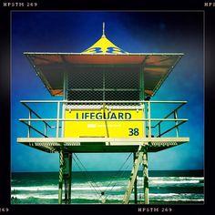 """Lifeguard tower, Main Beach"" Life Guard, Towers, Maine, Fair Grounds, Beach, Fun, Photos, Photography, Travel"