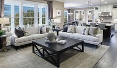 This open, inviting great room in Aldie, VA, is an ideal space for relaxing or entertaining | Harmon plan by Richmond American