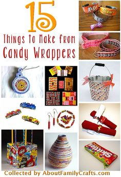 15 Candy Wrapper Crafts | About Family Crafts