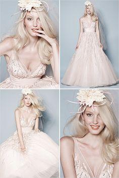 pink watters wedding gown