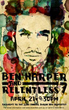 All sizes | Ben Harper Concert Poster - Bluesfest | Flickr