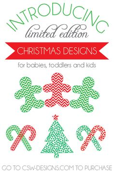 Limited edition Christmas designs - new from CSW Designs! {and a Giveaway until at midnight! Gift Guide, Children, Kids, Giveaway, Diy Projects, Gift Ideas, Learning, Blog, Christmas