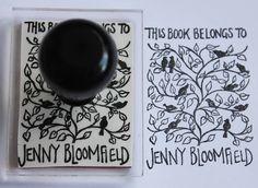 Personalised Birds 'Book Belongs To' Stamp