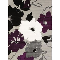 Cristall Dasia Plum Area Rug (7'10 x 10'6)   Overstock.com Shopping - The Best Deals on 7x9 - 10x14 Rugs