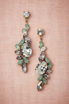 Aquamarine Swarovski Crystal Earrings