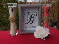Rustic Sand Ceremony Set by TheKingsDesigns on Etsy