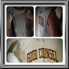 Old sweatshirt turned into a west Min inre omställningsresa. Old Sweatshirt, Sweatshirts, Sweaters, Fashion, Moda, Fashion Styles, Trainers, Sweater, Sweatshirt