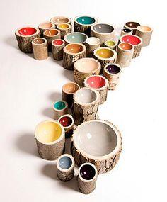 loyal loot collective } wood bowls