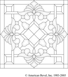 American Bevel – Stained glass, bevel glass clusters, stained glass software, be… - Cool Glass Art Designs Glass Painting Designs, Stained Glass Designs, Stained Glass Panels, Stained Glass Patterns, Mosaic Patterns, Stained Glass Art, Pattern Art, Quilt Patterns, Glass Painting Patterns
