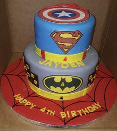 Calumet Bakery  Super Hero Two Tier Cake
