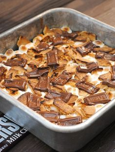 Smore Brownies for National Smore Day!