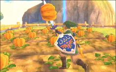 Skyward Sword. Lol I've always thought it was funny how Link could stab a pumpkin and run around with it for no other reason than it was funny.